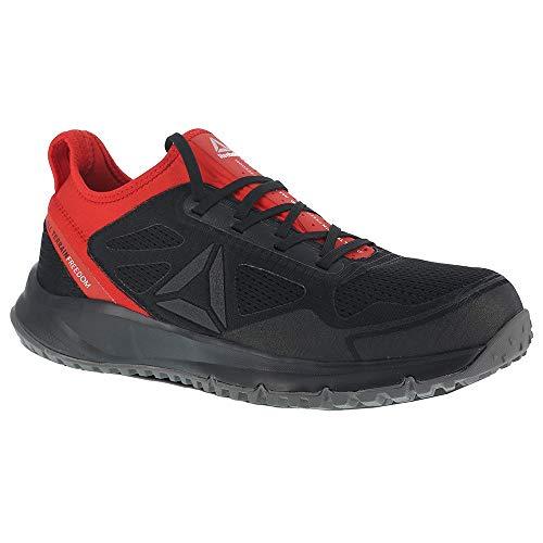 (Reebok Mens Black Mesh Work Shoes ST at Trail Run Oxford 9.5 M)