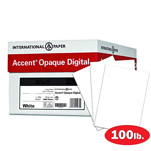 Accent Opaque Thick Cardstock Paper, White Paper, 100lb Cover, 271 gsm, 18x12 Paper, 97 Bright, 4 Ream Case / 700 Sheets, Super Smooth, Heavy Card Stock (189029C)