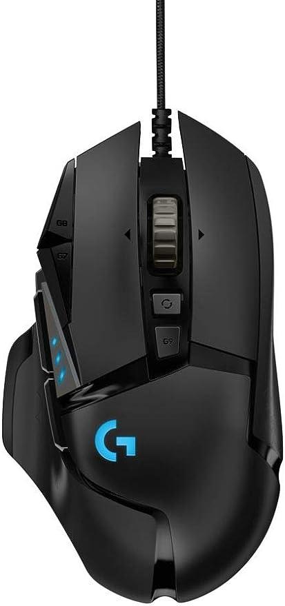 Oferta amazon: Logitech G502 HERO Ratón Gaming con Cable Alto Rendimiento, Sensor HERO 16K, 16 000 DPI, RGB, Peso Personalizable, 11 Botones Programables, Memoria Integrada, PC/Mac , Versión Alemana , Negro