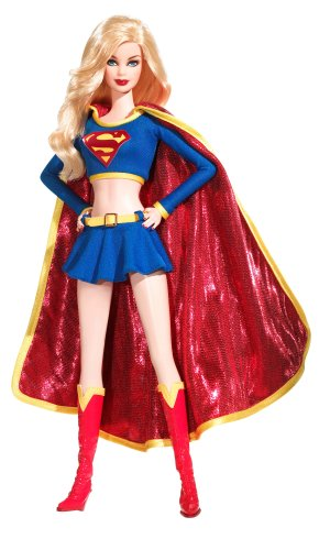 2008 Barbie Collector Doll Silver Label Supergirl Doll - Barbie Doll Silver Label