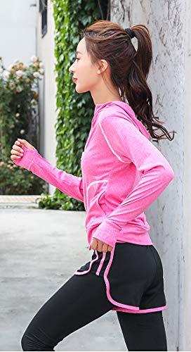 Uni-Wert Bekleidung Yoga Set, Damen Trainingsanzug Set Yoga Jogging Lauf Anzug, Frauen 5er-Set Sportanzug Atmungsaktiv Schnell Trocknend Gym Fitness Outfit Sportsuit Training Sweatsuit Fünfteilig