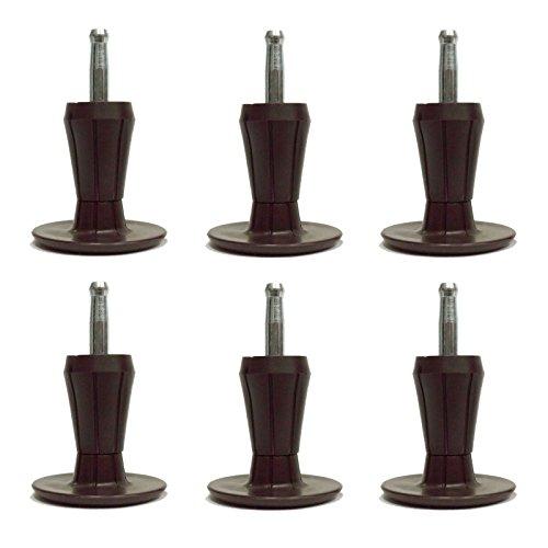 2-Piece Metal Stem Bed Frame Glides/Feet/Legs w/Socket Sleeves (6) (2 Leg Frame)
