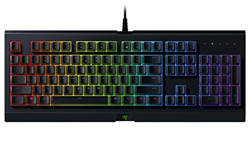 RAZER CYNOSA CHROMA: Spill-Resistant Design - Individually Backlit Keys with 16.8 Million Color Options - Ultra-Low Profile Switch - Gaming Keyboard