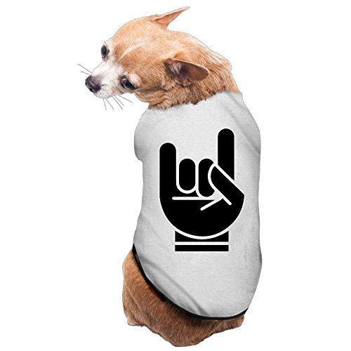 YEARla Classic Hardrock Fingers Dog Clothes Tshirt Dress Gray (Dog Ut Sweater)