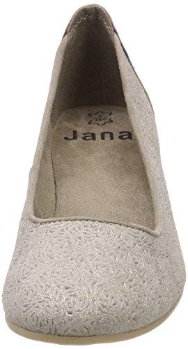 Jana Dame 22304 Pumper Beige (taupe / Metal) g4Wz1QNJS