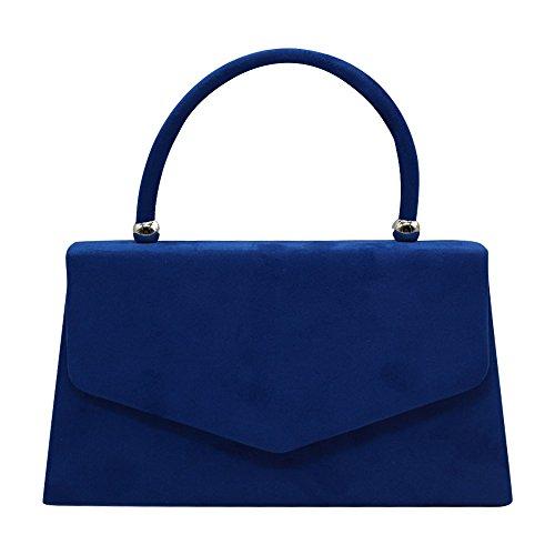 Wocharm Ladys Designer Fashion Handheld Evening Prom Party Clutch Purse Tote Bag (Royal Blue)