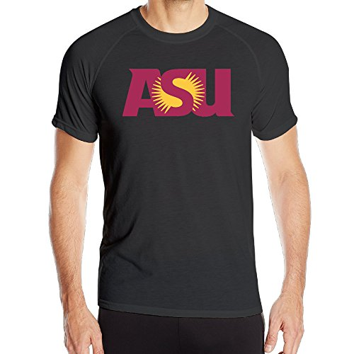 EWIED Men's Arizona State UniversityCool Training Short Sleeve Black - Glasses Jackman Hugh