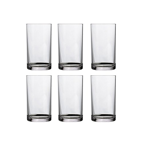 Cheap Classic 9-ounce Premium Quality Plastic Tumblers | set of 6 Clear