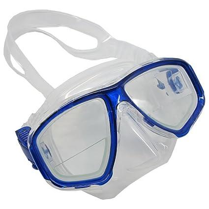 185d83d3ae Scuba Choice Scuba Blue Diving Dive Mask Gauge Reader Farsighted  Prescription RX Optical Corrective Bottom 1