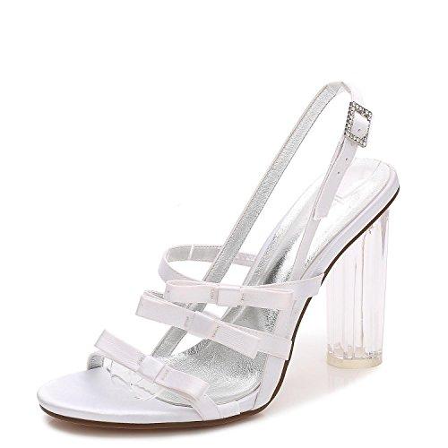 3 yc blanco Zapatos Fiesta Mujer Tacones marfil F2615 Boda De Cristal Para White L Plataforma 0dwx71d