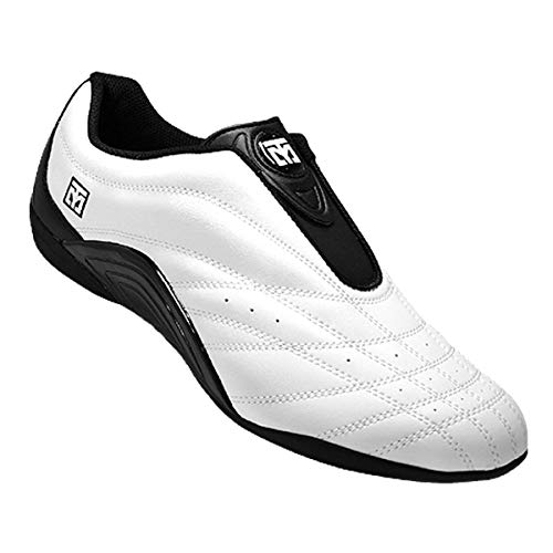 Mooto Wings Korea Taekwondo Shoes TKD Competition Twotone & Black 4 1/2 to 14 (Black & White, 290mm(US 10 1/2))
