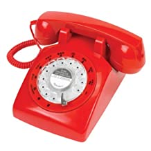 Retro 1960s Red Rotary Dial Telephone