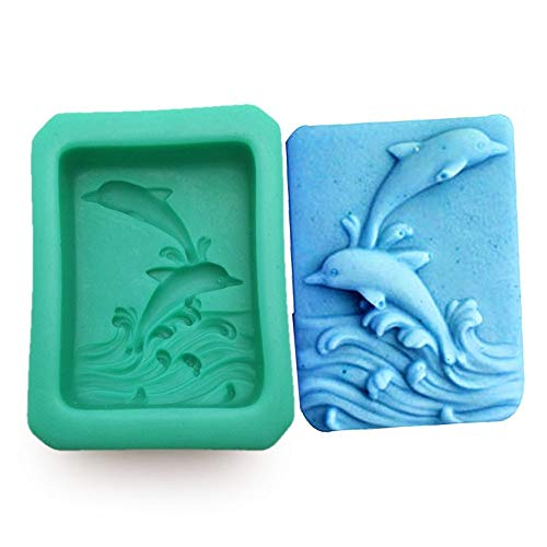 Food grade DIY silicone molds for cake decoration polymer clay molds 3D dolphin style handmade soap chocolate form S0349HT25