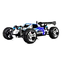 Buggy WLToys A959 4WD 1:18 Brush Electric RC Car 50KM/H 2.4G Ready-To-Go Remote Control Car, Remote Controller Transmitter(Blue)