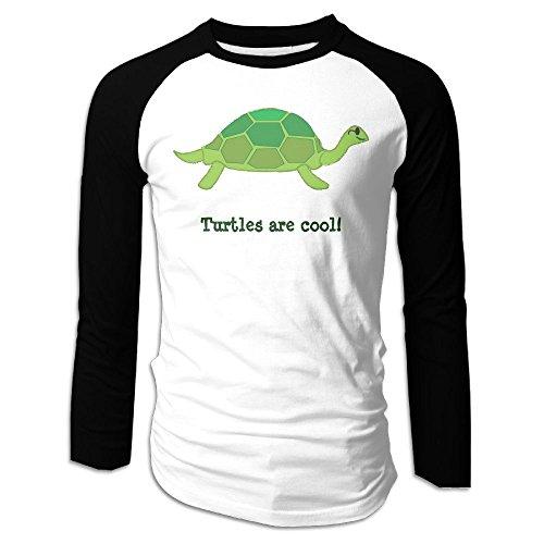 Puppylol Men's Turtles Are Cool Long Sleeve Raglan Baseball Jersey XXL