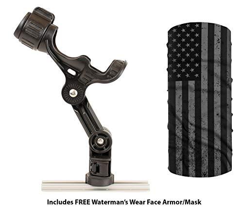 (YakAttack Omega Omega Pro Rod Holder Track Mounted LockNLoad Mounting System Kayak Fishing (Free Waterman's Face Armor $10.95 Value) (Omega Pro))