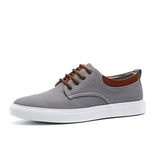 HGTYU In Summer Men'S Shoes Shoes Canvas Shoes Male Han Fashion Sports Casual Shoes Shoes Men'S Shoes All-Match. Grey VqsiodJPA