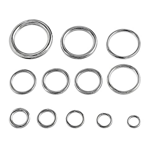 Round Welded Type 316 Stainless Steel Rings - Select from 12 Sizes - 5/8