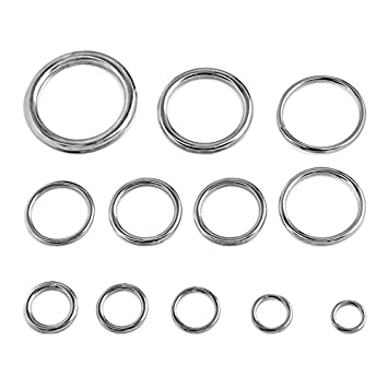 Amazon.com: Round Welded Type 316 Stainless Steel Ring - 5/16-inch x ...