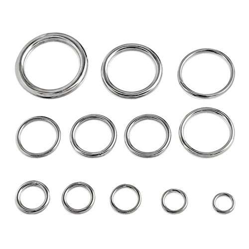 Round Welded Type 316 Stainless Steel Ring - 5/16-inch x (Welded Ring)