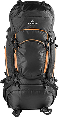 Teton Sports Grand 5500 Backpack; Lightweight Hiking Backpack for Camping, Hunting, Travel, and Outdoor Sports; Included Poncho Covers You and Your Pack from Rain or Use it as a Shelter