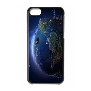 XiFu*Meiiphone 4/4s Case,3D Earth Hard Shell Back Case for Black iphone 4/4s Okaycosama378187XiFu*Mei