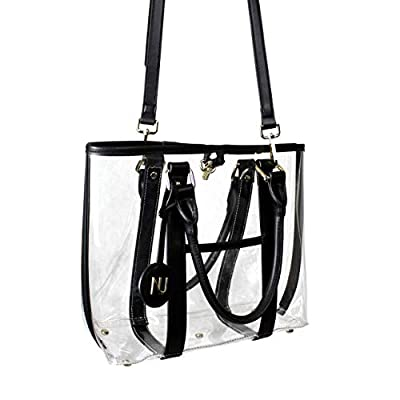 NU Women Handbags, Deluxe Clear Purse, Stadium Approved Transparent Tote Bag
