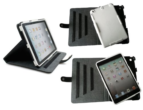 Bear Motion Brazilian Buffalo Hide Leather Folio Stand Cover Case for iPad Mini