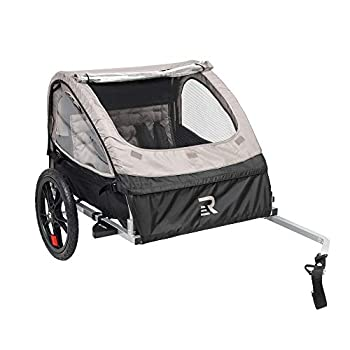 Image of Child Carrier Trailers Retrospec Rover Kids Bicycle Trailer Single and Double Passenger Children's Foldable Tow Behind Bike Trailer with 16' Wheels, CPSC Approved Safety reflectors, and Rear Storage Compartment
