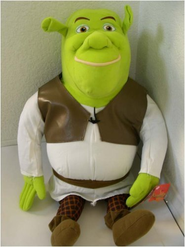Click for larger image of 24' Large Shrek Plush Toy 100% Ogre Stuffed Animal