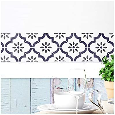 Jannah Border Wall Furniture Floor Stencil for Painting S