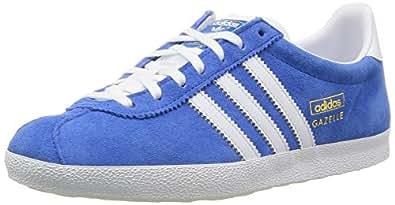 adidas Gazelle OG - Zapatillas de running, Hombre, Multicolor (Azul / Blanco / Dorado), 37 2/3