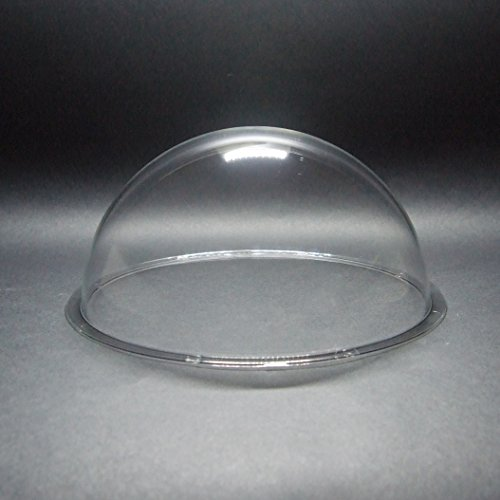 DURADOM Acrylic Dome With Flange Clear Plastic Hemisphere - Multi Use Bubble Pet Dog Fence Window Sphere CCTV Dome Acrylic Camera Perspex Display Transparent Cover Floating Fish Dome (8 inch / 200mm)