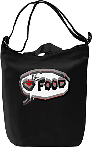 Food Lover Borsa Giornaliera Canvas Canvas Day Bag| 100% Premium Cotton Canvas| DTG Printing|