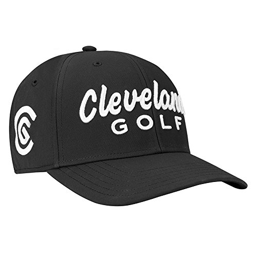 (Cleveland Golf Men's Structured Hat, Black, One Size Fits All)