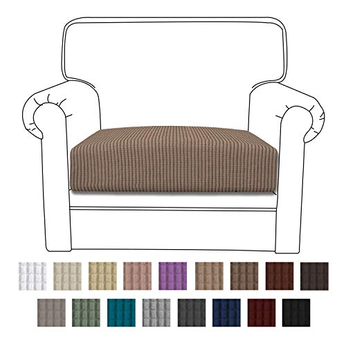 Easy-Going Stretch Cushion Cover Sofa Cushion Furniture Protector Sofa Seat Sofa slipcover Sofa Cover Soft Flexibility with Elastic Bottom(Chair Cushion,Camel)