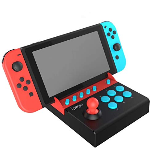 Solovley Game Consoles Accessories, Gladiator Arcade Joystick NS Host Game Rocker Plug and Play with Bursts for Nintendo Switch Arcade Joystick PG-9136 USB Fight Stick Controller