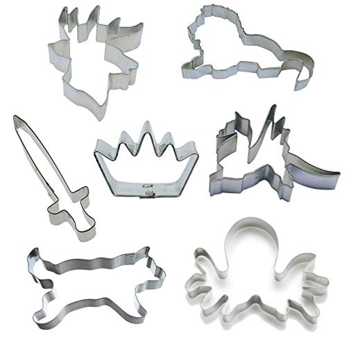 Ultimate Game of Sigils Cookie Cutter Set! Lion, Dire Wolf, Dragon, Stag, Kraken, Crown & Sword. Perfect for your Thrones Party! -