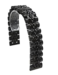 20mm Stainless Steel Quick Release Watch Band Strap Bracelet For Samsung Gear S2 Classic / Pebble Time Round (Black)