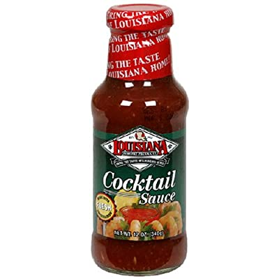 Louisiana Cocktail Sauce With Horseradish, 12-Ounce Bottles (Pack of 12)