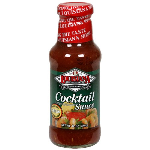 Louisiana Cocktail Sauce With Horseradish, 12-Ounce Bottles (Pack of 12) by Louisiana