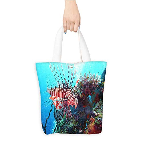 Printed Fashion bags Red fire fish on the sea floor Suitable for any occasion W11 x H11 x D3 INCH