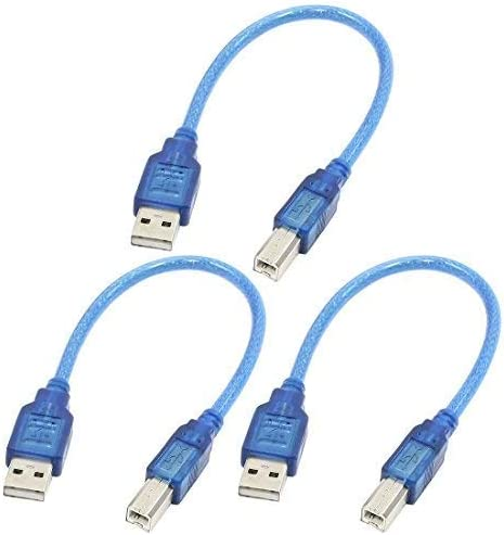 LULUTING ZH-Wang Printer Parts 11.8 USB 2.0 A Male to USB B Male Computer//Printer Adapter Cable Line x 3 Products