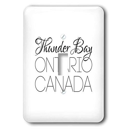 3dRose Alexis Design - Canadian Cities - Thunder Bay Ontario, Canada. Chic, unique patriotic home town gift - Light Switch Covers - single toggle switch (lsp_304853_1)