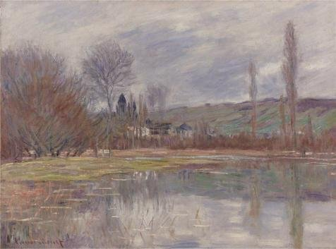 Oil Painting 'Claude Monet - The Spring At Vetheuil, 1881', 12 x 16 inch / 30 x 41 cm , on High Definition HD canvas prints is for Gifts And Gym, Kitchen And Laundry Room Decoration, fine