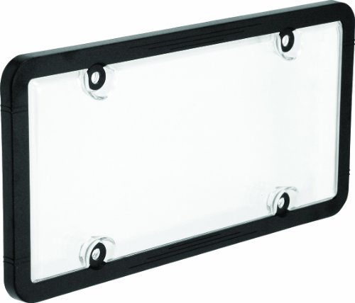 Bell Automotive 22-1-45601-8 Universal License Plate Frame with Clear Cover, Black ()
