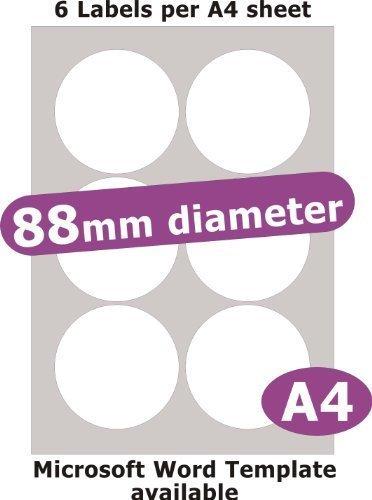 Amazon.com: Minilabel 88 mm de diámetro ronda, 30 Etiquetas ...