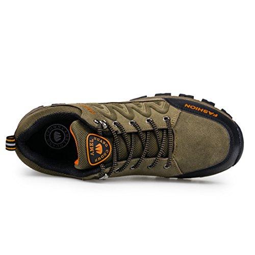 ailishabroy - Zapatillas de escalada de Ante para hombre caqui