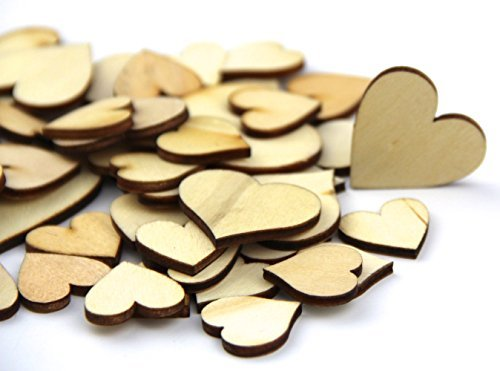 atural Wood Color Big Heart Shaped Wooden Crafting Sewing DIY Scarpbooking Buttons Approx 200pcs ()