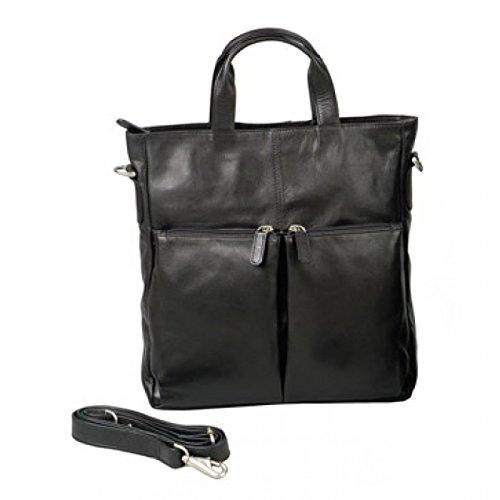 (Winn International Harness Cowhide Leather All Purpose Tote/Backpack in Black)